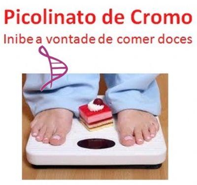 Picolinato de Cromo 500mcg - 60 cápsulas. Posologia:Tomar 1 cápsula 30 minutos antes do almoço e do jantar.