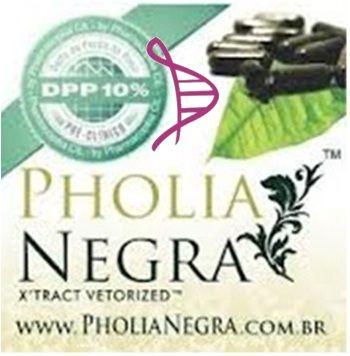 Cápsulas de Pholia Negra 150mg - 60 cápsulas. Posologia: Tomar 1 cápsula 2 vezes ao dia, meia hora antes das refeições, com um copo d'água.