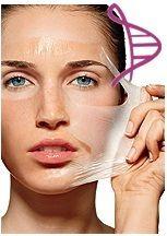 Máscara Peel Off Nutritiva e Antiaging - 50g. Aplicar sobre o rosto limpo, deixar agir por 15 a 20 minutos ou até secar e retirar a película de cima para baixo.
