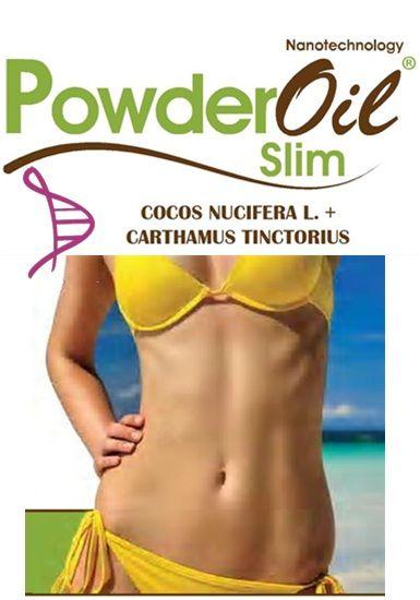 Powderoil Slim 1g - 60 cápsulas. Posologia: Tomar 01 dose 15 min antes das principais refeições.