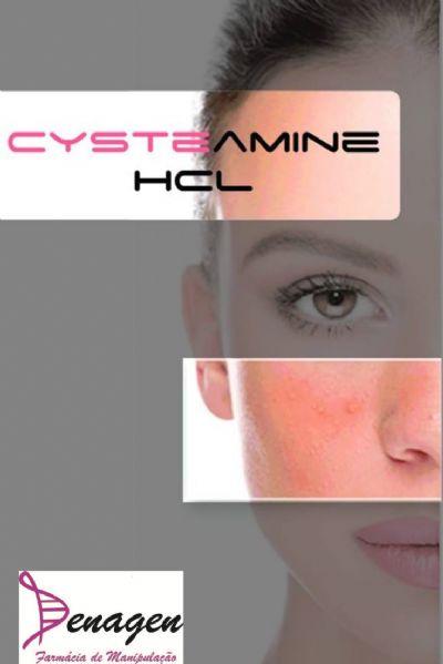 Cysteamine HCL 5%, Lumi.Base® qsp 30g. Aplicar nas regiões afetadas à noite.