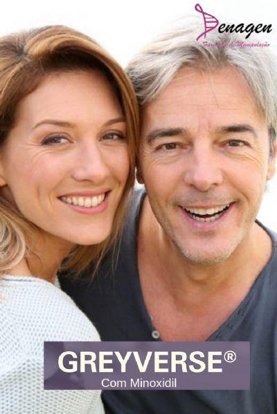 GreyVerse® 2% com Minoxidil 5%, Pro Cycle Hair Tônico qsp 100ml. Anti-Grisalhos e Crescimento dos Fios