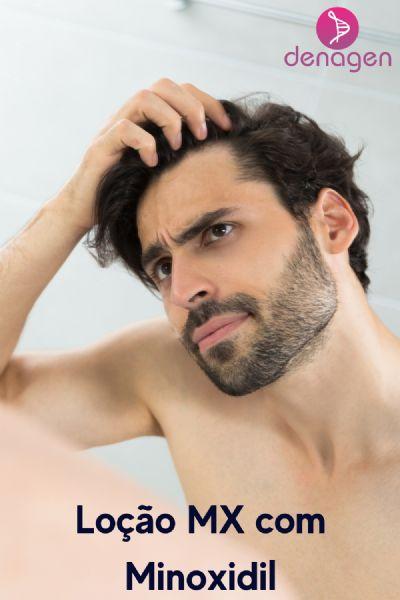 Loção Capilar MX com Minoxidil 5% qsp 100ml - Age no estímulo do crescimento capilar sem irritar o couro cabeludo