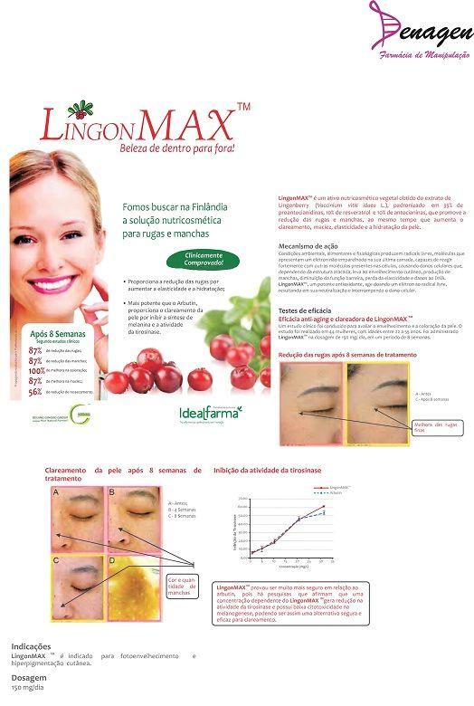 Cápsula Clareadora com Pomegranate e Lingonmax - 60 cápsulas. Posologia: Tomar 1 cápsula 2 vezes ao dia.