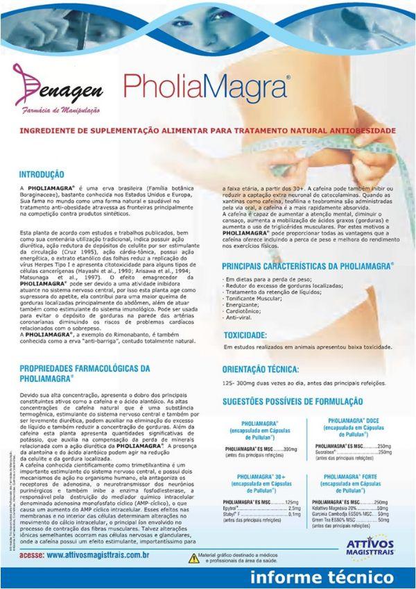 Pholia Magra 300mg e Slendesta 300mg - 60 cápsulas. Posologia: Tomar 1 cápsula 2 vezes ao dia, antes das refeições.