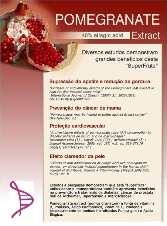 Cápsula Clareadora com Pomegranate 400mg - 60 cápsulas. Posologia: Tomar 1 cápsula 2 vezes ao dia.