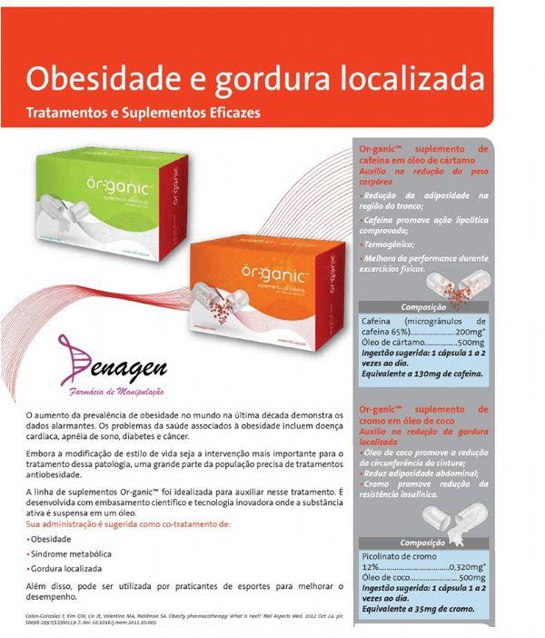 Or-ganic Suplemento de Cafeína em Óleo de Cártamo - 60 caps