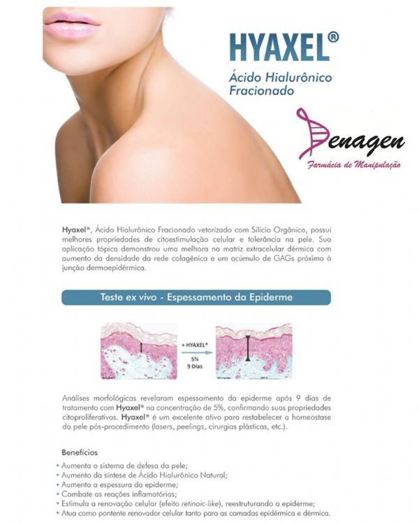 Hyaxel 7% - 30g - Peeling Biológico Natural. Posologia: Aplicar no rosto, pescoço e colo de manhã e à noite, após a limpeza da pele.