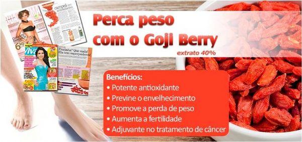 Goji Berry 250mg - 60 cápsulas - Super Fruta. Posologia: Tomar 01 dose duas vezes ao dia, antes das refeições.